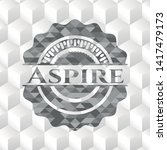 aspire realistic grey emblem... | Shutterstock .eps vector #1417479173