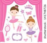 vector illustration of little... | Shutterstock .eps vector #141748726