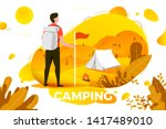 vector illustration   camping... | Shutterstock .eps vector #1417489010