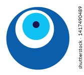 blue evil eye vector on white... | Shutterstock .eps vector #1417490489