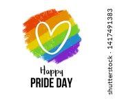 happy pride day with big heart... | Shutterstock .eps vector #1417491383
