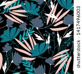 fashionable seamless pattern... | Shutterstock .eps vector #1417496003