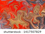 marble abstract acrylic... | Shutterstock . vector #1417507829