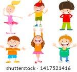 cartoon illustration of funny... | Shutterstock .eps vector #1417521416