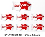 discount labels .with star | Shutterstock .eps vector #141753139
