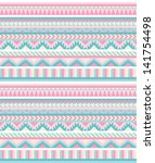 seamless aztec pattern in... | Shutterstock .eps vector #141754498