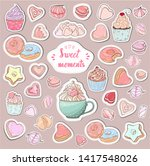 sweet moments stickers... | Shutterstock .eps vector #1417548026