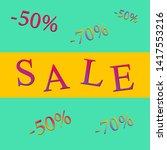 summer sale  bright advertising ... | Shutterstock .eps vector #1417553216