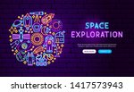 space exploration neon banner... | Shutterstock .eps vector #1417573943