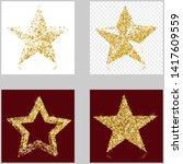 set of gold glitter vector... | Shutterstock .eps vector #1417609559