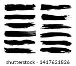 collection of artistic grungy... | Shutterstock . vector #1417621826