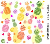 seamless pattern with... | Shutterstock .eps vector #141762868