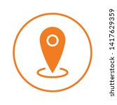 location icon  map pin pointer. ... | Shutterstock .eps vector #1417629359