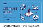 supply chain logistic isometric ... | Shutterstock .eps vector #1417635626