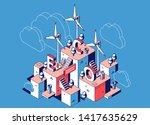 renewable resources  eco power... | Shutterstock .eps vector #1417635629