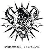 black skull | Shutterstock .eps vector #141763648