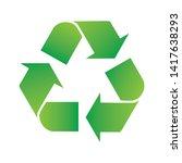 green arrows recycle eco symbol ... | Shutterstock .eps vector #1417638293