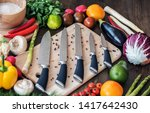 from above assorted fresh...   Shutterstock . vector #1417642430