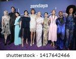 los angeles   jun 4  cast at... | Shutterstock . vector #1417642466
