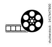 retro cinema movie reel camera... | Shutterstock .eps vector #1417647800