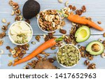 healthy food and dieting... | Shutterstock . vector #1417652963