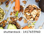 healthy food and dieting... | Shutterstock . vector #1417655960
