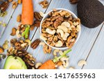 healthy food and dieting... | Shutterstock . vector #1417655963
