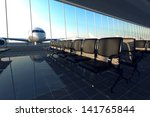 Modern Airport Terminal With...