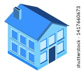 isometric house. private... | Shutterstock .eps vector #1417660673