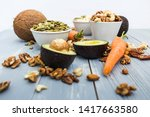 healthy food and dieting... | Shutterstock . vector #1417663580
