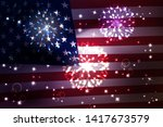 usa flag background. ... | Shutterstock .eps vector #1417673579