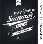 chalkboard retro vintage... | Shutterstock .eps vector #141767629