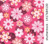 fashionable pattern in small... | Shutterstock .eps vector #1417684130