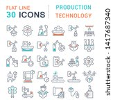 set of vector line icons of... | Shutterstock .eps vector #1417687340