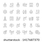 set of vector line icons of... | Shutterstock .eps vector #1417687370
