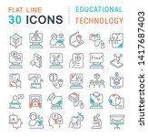 set of vector line icons of... | Shutterstock .eps vector #1417687403