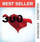 arabic number three hundred in... | Shutterstock .eps vector #1417687553