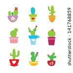 cactus plant vector | Shutterstock .eps vector #141768859