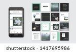 set of square modern blog posts ... | Shutterstock .eps vector #1417695986