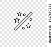 magic wand icon from magic...   Shutterstock .eps vector #1417697366