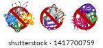 Stop Spread Virus Symbol Set....
