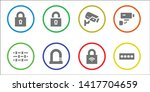 private icon set. 8 filled... | Shutterstock .eps vector #1417704659