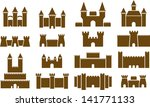 castle icons | Shutterstock .eps vector #141771133