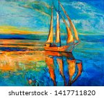 Original Oil Painting Of Sail...
