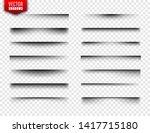 vector shadows set. page...   Shutterstock .eps vector #1417715180