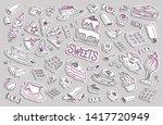 set of vector doodle elements ... | Shutterstock .eps vector #1417720949