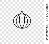 onion icon from food collection ... | Shutterstock .eps vector #1417729886