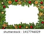 christmas frame. christmas... | Shutterstock . vector #1417746029