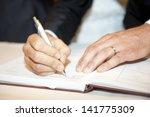 Groom Sign Wedding Contract
