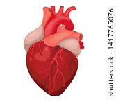 anatomical heart isolated.... | Shutterstock .eps vector #1417765076